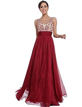 Homebaby® Rosso Abiti Lunghi Donna Eleganti - Estivi Vestiti Casual Donna - Vintage Maxi Abito Abiti Donna Formale...