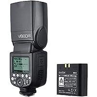 Godox V860II Kit Flash Speedlite for Canon DSLR with Wireless X System, LCD Display–Black