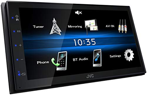 JVC KW-M25BT, Digital Media Receiver mit 17,3 cm Hochglanz-Touchpanel, Bluetooth, Android USB-Mirroring, 4 x 50 Watt -