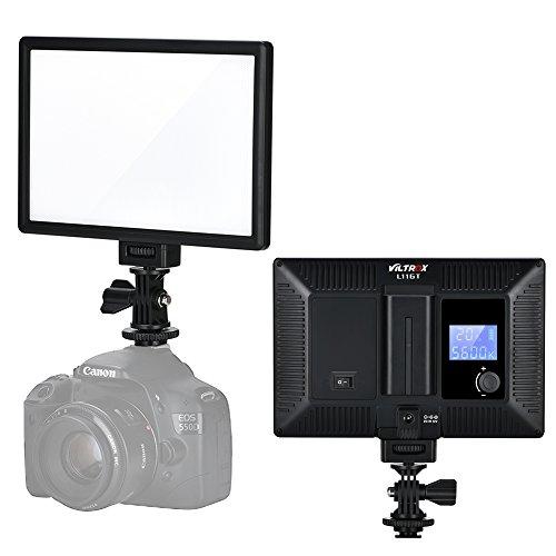 VILTROX L116T CRI95 Video Light Pannello LED illuminazione per Fotocamera DSLR, Temperatura Colore Regolabile 3300K-5600K Luminosità Massima 987LM