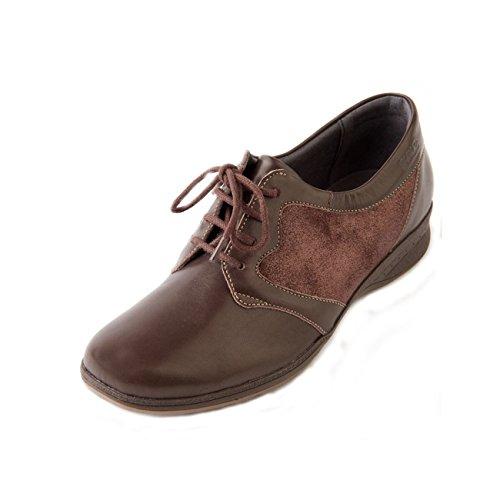 Suave  Bryony, Chaussures de ville à lacets pour femme Brown Sparkle