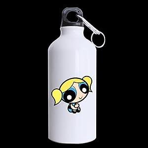 Mensuk Japan Anime Cartoon Powerpuff Girls Custom Travel Mug Sport Bottle Cup 13.5 OZ Office Home Cup (Printed on two sides)