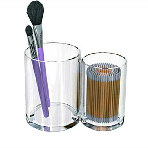 Schmink aufbewahrung,Beauty Augenbrauenpinsel Make-up Pinsel Aufbewahrungsbox, 2Fässer ohne Deckel