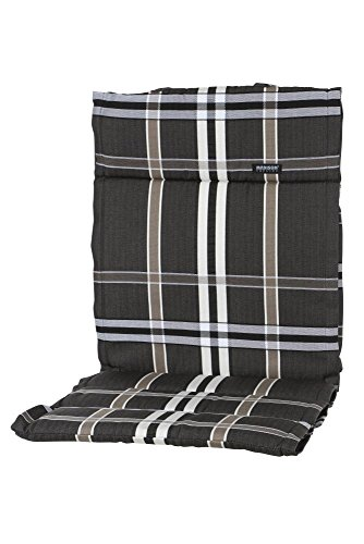 6 Stück MADISON Dessin Nils Sitzpolster, Sitzauflage für Stapelsessel niedrig, Niedriglehner 100% Polyester, 100 x 50 x 4 cm, in taupe