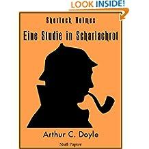 Sherlock Holmes – Eine Studie in Scharlachrot: Vollständige & Illustrierte Fassung (HD) (Sherlock Holmes bei Null Papier 6) (German Edition)