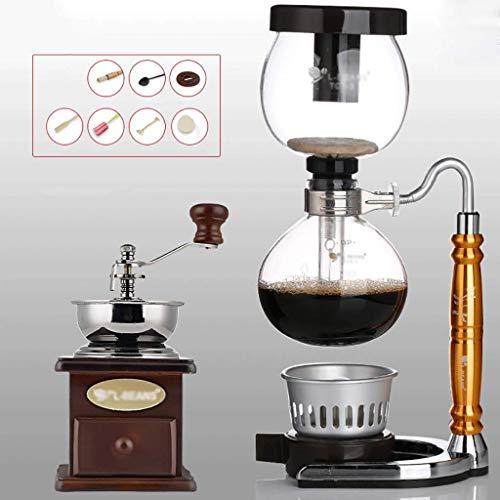 Siphon Kaffeemaschine Set Kaffee Siphon Technia Kuh Sternzeichen Totem Siphon Kanne Kaffeekanne 3 Tassen Vakuum-Kaffeemaschinen