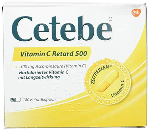 CETEBE Vitamin C Retard Capsules 180 Stück -