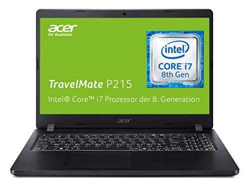 Acer TravelMate P2 (TMP215-51-83MD) 39,6 cm (15,6 Zoll Full-HD IPS) Business-Laptop (Intel Core i7-8550U, 8 GB RAM, 512 GB PCIe SSD, Intel UHD, Win 10 Pro) schwarz