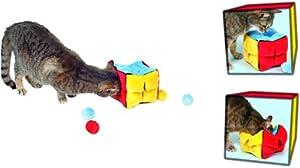 Trixie 4104 Plush Cube with 4 Catnip Balls 14 cm