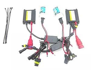 Goliton® HID Lampe au Xénon 12V 35W lampes DC Slim H4 HID de conversion,kit de Phares de voiture H4 4300K lampe jaune -Noir