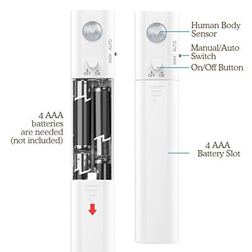 MoKo-Nocturna-LED-Lmpara-1M-30-LED-Flexible-con-el-Sensor-de-Movimiento-Luz-de-Noche-Elegante-Impermeable-para-Armario-Cocina-Dormitorio-Stano-Corredor-Escalera-Blanco-Natural