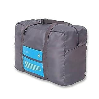 RUNACC Faltbare Reise Seesack Nylon Gepäck Taschen Große Kapazität Sporttasche für Reisen, Camping und Gym, 31-40L Kapazität, Blau