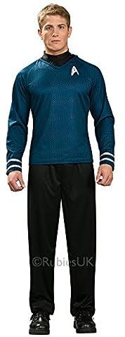 Adult Mens Star Trek Blue Shirt Spock Costume Small (up