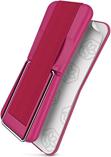 ONEFLOW ClipGrip Finger-Halter mit Aufstellfunktion für Motorola und Lenovo | Einfache Einhandbedienung - mit elastischem Stoffband (Selbstklebend), Pink