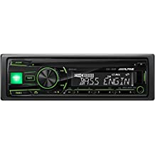 Alpine CDE-180R - Reproductor multimedia para coche (pantalla LCD, CD, USB), negro