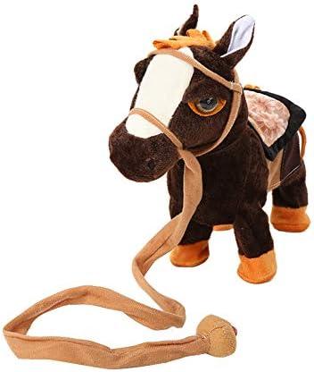 ROKOO La Marche électrique de Cheval de de de Peluche Joue Le Cadeau de Noël de Jouet de Jouet de Peluche d'enfants à Piles B07K8FMLGT 617538