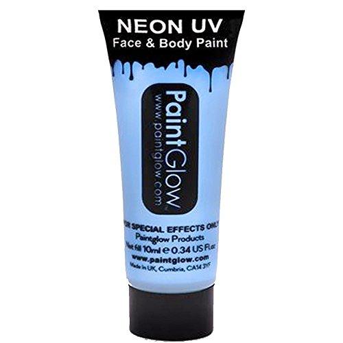 Smiffys - SM45996 - Peinture UV Corps et Visage 10 ml Bleu Bébé - Taille Unique