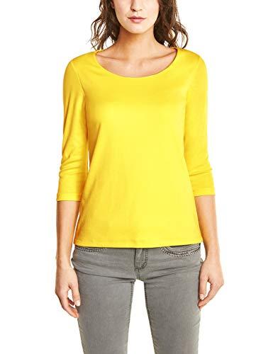 Gelbe Damen-shirt (Street One Damen T-Shirt 311693 Pania, Gelb (Sunshine Yellow 11708), (Herstellergröße:40))