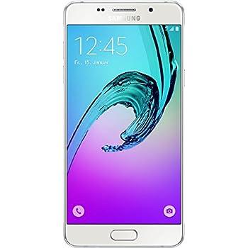 Samsung Galaxy A5 2016 Smartphone débloqué (Ecran: 5,2 pouces - 16 Go - Simple Nano-SIM - Android 5.1) Blanc (import Allemagne)