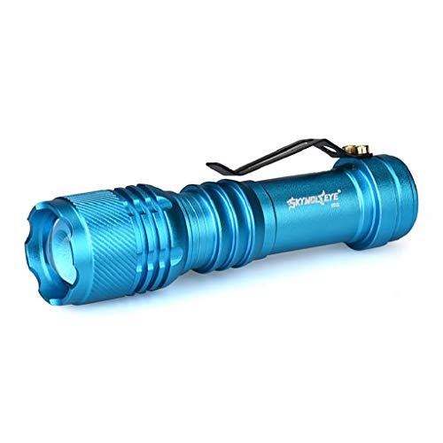 LED Taschenlampe 6000 Lumen Extrem Hell Cree XM-L Q5 Handlampe mit 3 Leuchtmodi einstellbare Fokus Zoom Taktische Taschenlicht Flashlight für Indoor Wandern Fahrradfahren Sport Camping Rovinci