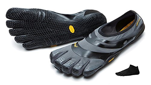 Vibram FiveFingers EL-X Men + Zehensocke, Size:44;Color:Grey/Black