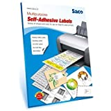 Saco Easy Ship Orders Sticky Labels Pack of 400 Labels (100 Sheets) Print Order Shipping Address Pre-Cut Labels Invoices Stickers (4 Labels in 1 Sheet) MFN ATS