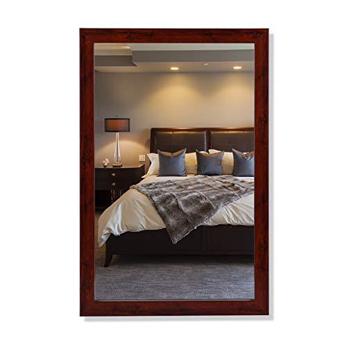 Retro rot Bad Wandspiegel, Rechteck gespiegelt hängt horizontal oder vertikal, Designs Spiegel mit Rahmen, Bad Wandspiegel Kosmetikspiegel