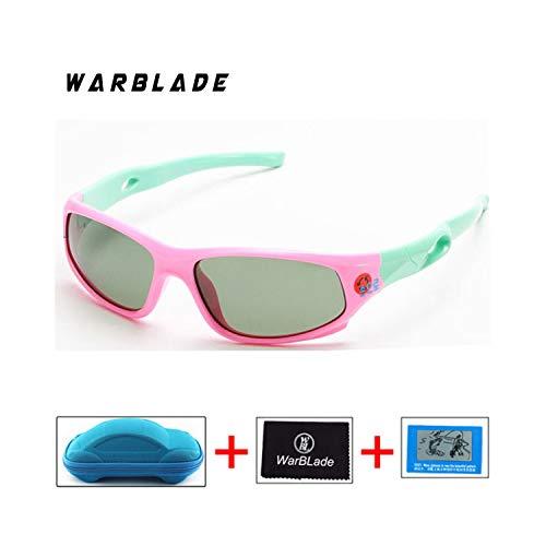 Sportbrillen, Angeln Golfbrille,Children's Polarisiert Sunglasses Baby Child Care UV Glasses Security TR90 Frame Brand Goggles Sun Glasses For Kids Gafas De Sol pink green