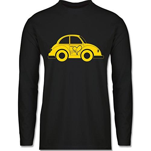 Shirtracer Autos - Liebes Beetle Auto - Herren Langarmshirt Schwarz