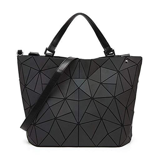 IRVING Rhombus Geometry Pack Unregelmäßige leuchtende Beuteltasche Japanische Falttasche (Size : M) (Leuchtend Rosa Wickeltasche)