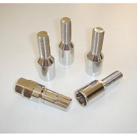 Defender dtlb5312mm x 1,5mm 27mm Lunghezza filettatura 60gradi Tapered sintonizzatore bulloni per ruote di blocco zinco Tipo