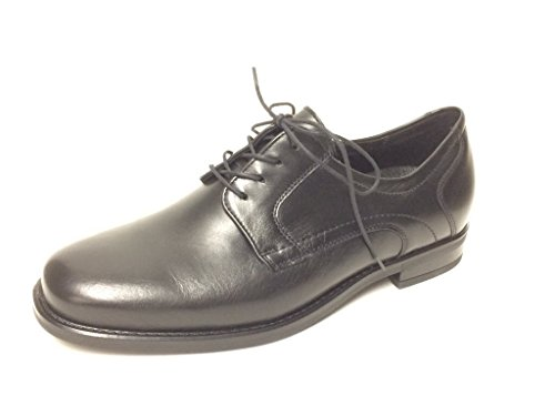 Waldläufer  641001149/001, Chaussures de ville à lacets pour homme Noir