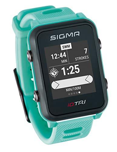 Sigma Sport Unisex- Erwachsene Triathlon Uhr, iD.TRI neon Mint Basic, -