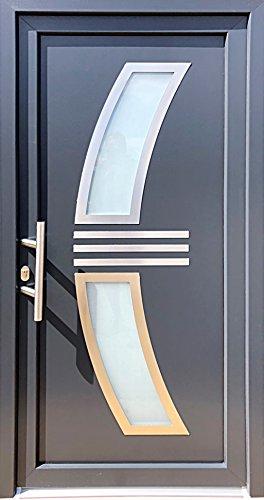 Nr.1 Eingangstür, Haustür,Außentür,Luxustür, Tür mit Glaseinsatz öffnet nach innen links, Tür 100 x 210 cm, Tür 1,0 x 2,1 m