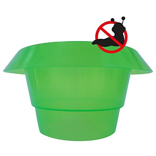 Robuster Schneckenschutzring - 3stk, 5stk, 10stk - Schneckenabwehr aus Kunststoff – Schutzring grün – Schützen Sie Salat , Tomaten und Jungpflanzen in Ihrem Garten (10er Set)
