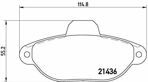 Preisvergleich Produktbild BREMBO P 23 160 Bremsbelagsatz, Scheibenbremse Scheibenbremsbelage, Bremssteine, Bremsklötze