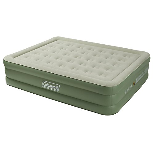 41z1BHc3GIL. SS500  - Coleman Airbed Maxi Comfort Bed Raised King, Camping Mat, Flocked Air Bed, Inflatable Double Height Air Mattress, Blow…