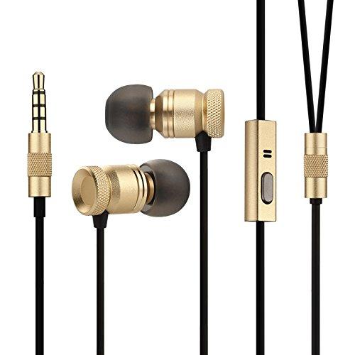 Auricolari Cuffie In-Ear Bass,GGMM Nightingale Cuffia Stereo Headset con Microfono , Ultra comoda con il Microfono Ergonomica e Tasto Multifunzione, 1,2 m per Smartphone e Tablet