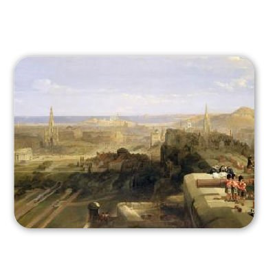 edimburgo-del-castello-olio-1847-on-art247-tappetino-per-il-mouse-in-gomma-naturale