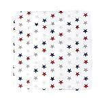 TupTam Baby Wickelauflage Gemustert mit Baumwollbezug, Farbe: Sterne Blau/Rot, Größe: 75 x 85 cm
