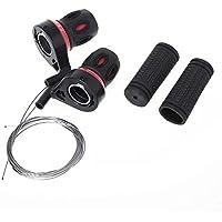 NOBRAND 1 par Desviador apretones de Bicicletas Palanca de transmisión torcedura Grip Cambio de la Velocidad MTB Compatible Engranaje de Ciclo Shifter Viajes (Color : Black)