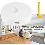 Lorenlli Smart Home Temperatur-Feuchtesensor Atmosphärendruck Echtzeit-Aufzeichnungen APP-Steuerung Kompatibel mit Telefon ZigBee-Geräten