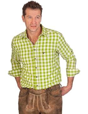 H1406 - Trachtenhemd mit langem Arm - SLIM - apfelgrün, türkis, violett