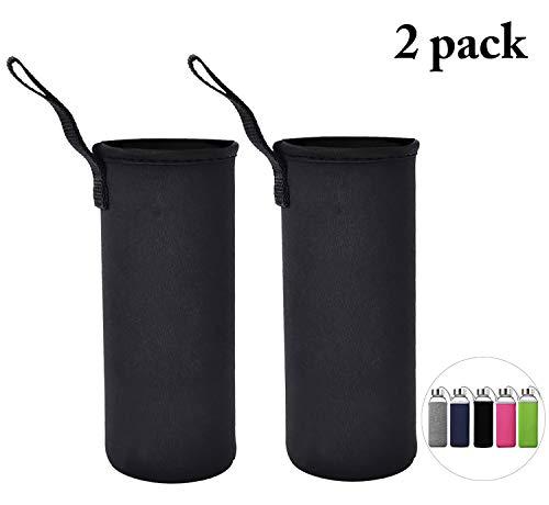 Flaschenhülle, Outgeek 2 PCS Cover Flaschen Flaschen-Hülle Wasser-Flaschenhalter Neopren-Fördermaschine, Schwarz -