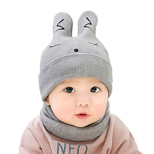 MansWill Baby Kinder Gestrickte Mütze & Kreis Schal/Kleinkind Kaninchen Warme Winter Ohr ()