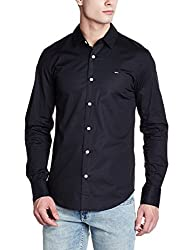 Tommy Hilfiger Mens Casual Shirt (8903876729476_A5ATW182_Medium_Tommy Black)