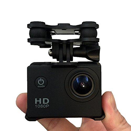 Oksea Kamera Kamerahalter mit Gimble Gimbal für SYMA X8 Series Quadcopter Drone Hubschrauber Unterstützungs PTZ KameraRahmen für kleine Ameisenhundekop-Kamera (Schwarz) Ptz-serie