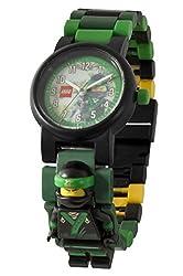 Lego Ninjago Movie 8021100 Lloyd Kinder-armbanduhr Mit Minifigur Und Gliederarmband Zum Zusammenbauen, Grünschwarz, Kunststoff, Analoge Quarzuhr, Jungemädchen, Offiziell