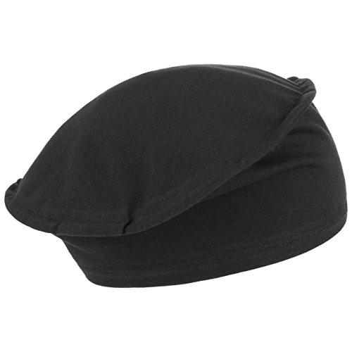 Beret Basque en Coton Maelys Lierys beret basque pour femme beret d´ete Noir
