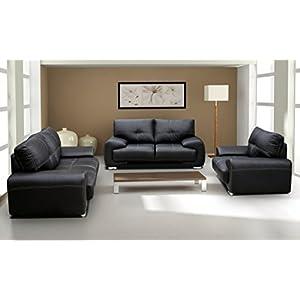Polstergarnitur Sofa Set 3er & 2er & Sessel 3-2-1 Wohnlandschaft 3-Sitzer und 2-Sitzer mit Sessel Möbel Set – Florida…